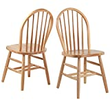 Winsome Wood 81836 Windsor 2Pc Set RTA Chair, Natural