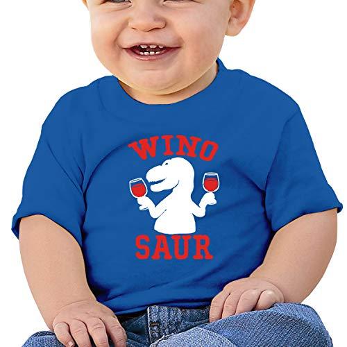- Baby T-Shirt,Popular,trex Wine Dinosaur Little Boys Short Sleeve Crew Neck T-Shirt Tops Tee 12M Blue