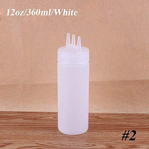 - beyonday Kitchen Vinegar Oil Ketchup Gravy Boats Squeeze Bottle Cruet Bin 3 Hole Dispenser