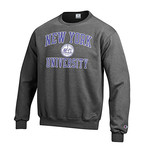 New York University Violets Crewneck Sweatshirt Seal Charcoal   Xl