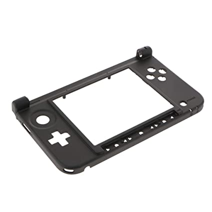 Baoblaze para Nintendo 3DS XL Parte Inferior de Bisagra Parte Inferior de Carcasa de Carcasa Negra