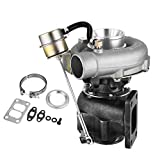 Mophorn T04E T3/T4 Turbo Universal Turbocharger 4-Bolt Manifold Flange Replacement Turbo 0.63AR Turbine Compressor Boost 350+HP with Internal Wastegate V-Band (T04E T3/T4)
