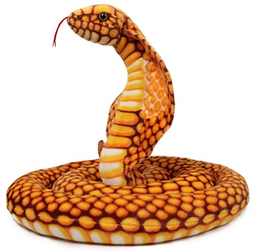 Qamra the Queen Cobra | 9 Foot Long Big Snake Stuffed Animal Python Plush | By Tiger Tale Toys
