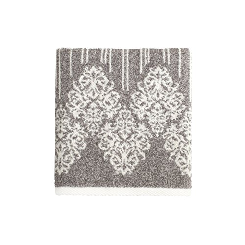 Damask Hand Towel - Linum Home Textiles Gioia Premium Authentic Soft 100% Turkish Cotton Luxury Hotel Collection Hand Towel, Vintage Brown