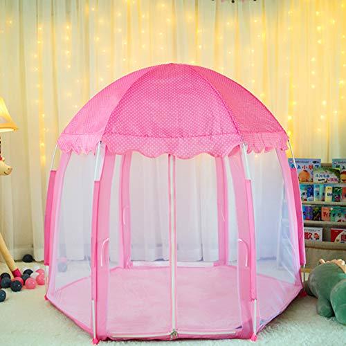 yuandao Hexagonal Kids Tent, New Princess Tent Hexagonal Princess Castle Indoor and Outdoor Girls Tent, 55'' x 51''(DxH) by yuandao (Image #4)