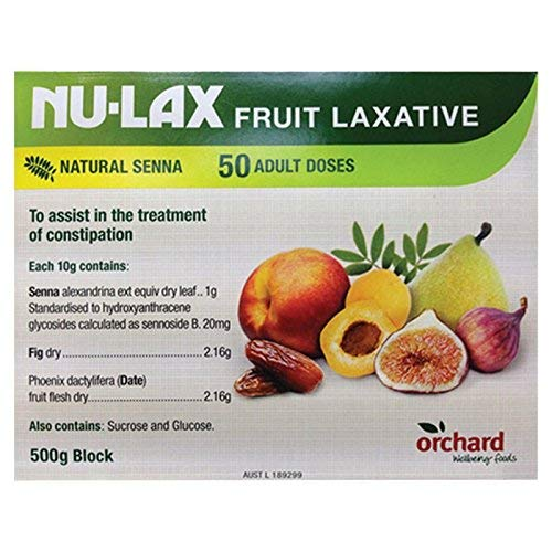 Nulax Fruit Laxative Block 500g (50 Adult Doses) (The Best Natural Laxative)