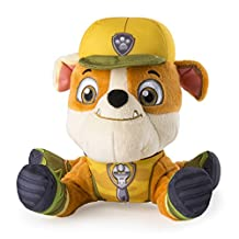 """Paw Patrol, Jungle Rescue, 8"""" Plush, Rubble"""