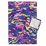 Best Barbie Towel Sets - Roostery Pink Tea Towels Mtp Cotton Candy Camo Review