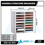 AdirOffice Wood Adjustable Literature Organizer