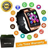 Bluetooth Smart Watch With Camera Touch Screen Smartwatch Unlocked Watch Cell Phone With Sim Card Slot Pedometer Fitness Tracker For ios iPhone Android Phones Samsung LG HTC Huawei Sony Men Women Kids (Gold)