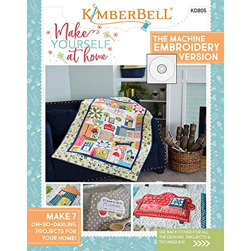 Kimberbell Make Yourself at Home Machine Embroidery CD and Book KD805 by Kimberbell