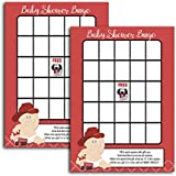 Baby Firefighter Boy Fireman Baby Shower Bingo Activity Game 20-pack