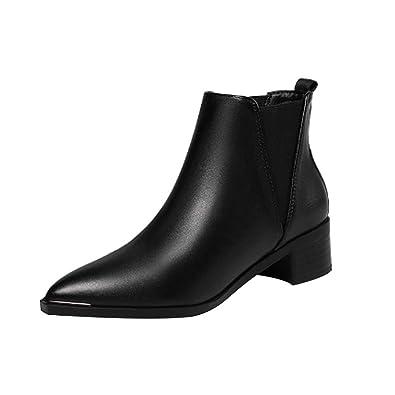 détaillant convient aux hommes/femmes vente à bas prix uirend Chaussures Bottes Bottines Femme - Boots Chelsea Cheville élastiqué  Arrondi Simili Cuir Petit Talon Carré