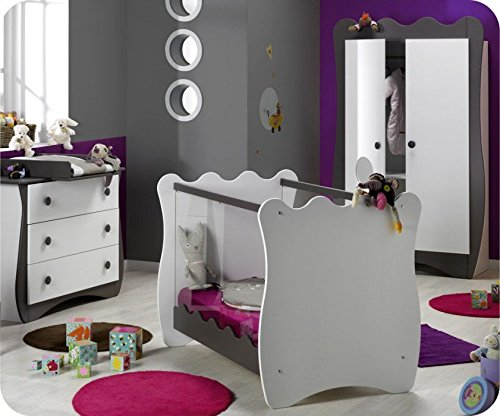 Babyzimmer komplett Doudou weiß taupe K. Roumanoff