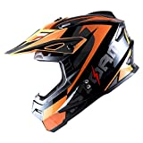1Storm Adult Motocross Helmet BMX MX ATV Dirt Bike Helmet Racing Style HF801; Sonic Orange