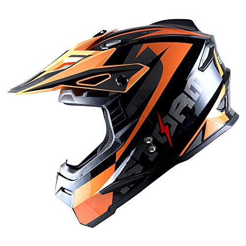 1Storm Youth Motocross Helmet BMX MX ATV Dirt Bike Helmet Teenager Racing Style; Sonic (Bmx Atv)