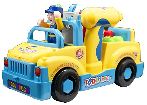 Take Apart Truck Toys With Power Tools for preschool Kids by