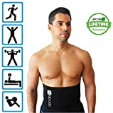 Slender 8 Waist Trimmer Belt - Waist Slimmer For Men and Women - Support Your Lower Back and Improve Your Fitness Level - Boost the Benefits of Your Workout - Target Abdominal Area for Weight Loss - Start Toning and Slimming Down - Lifetime Warranty