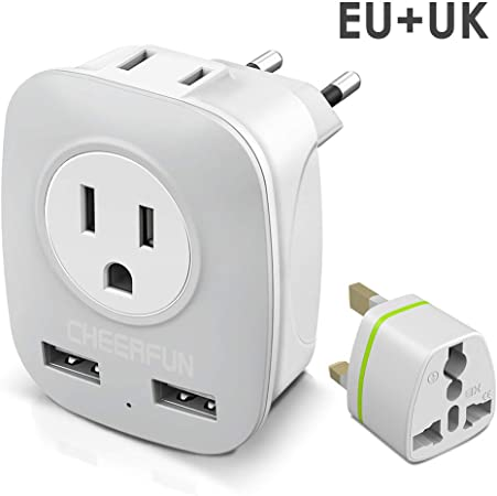 International Electric Adapter for 200 Travel connector Worldwide Universal socket adapter,Type C Power Adapter with 4 USB and AC socket supports HIGH SERVICE countries Travel adapter