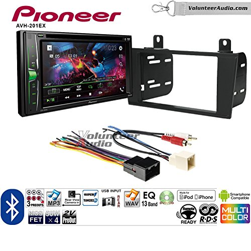 Volunteer Audio Pioneer AVH-201EX Double Din Radio Install Kit with CD Player Bluetooth USB/AUX Fits 2000-2005 Ford Thunderbird, 2000-2006 Lincoln LS by Volunteer Audio