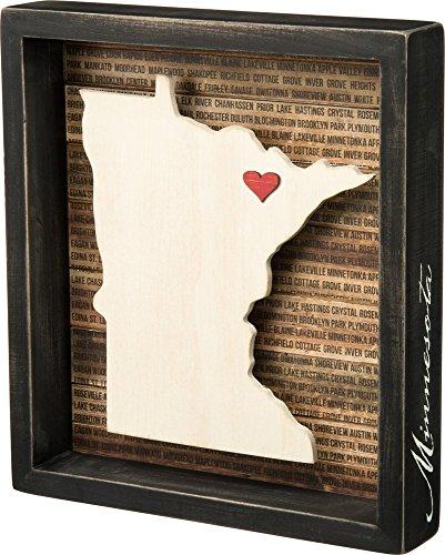 Primitives by Kathy Wanderlust Box Sign, 9.5 x 10.5, Minnesota