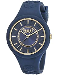 Versus by Versace Womens FIRE ISLAND Quartz Rubber and Silicone Casual Watch, Color:Blue (Model: SOQ090016)