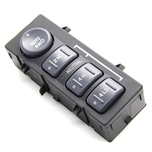 4WD 4x4 Wheel Drive Switch for Chevrolet Avalanche Silverado Suburban Tahoe 1999-2002; Cadillac Escalade 2002; GMC Yukon XL 1500 2500, Yukon, Sierra 2500 HD, 1500 HD Replaces # 15709327 19168767