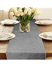 """Table Runner, Grey Fall Table Runner Rustic Farmhouse Table Runner for Coffee Table, Dining Table Entryway Dresser Cover, 12"""" x 108 Inches Long Table Runners for Wedding Party Christmas Decorations"""
