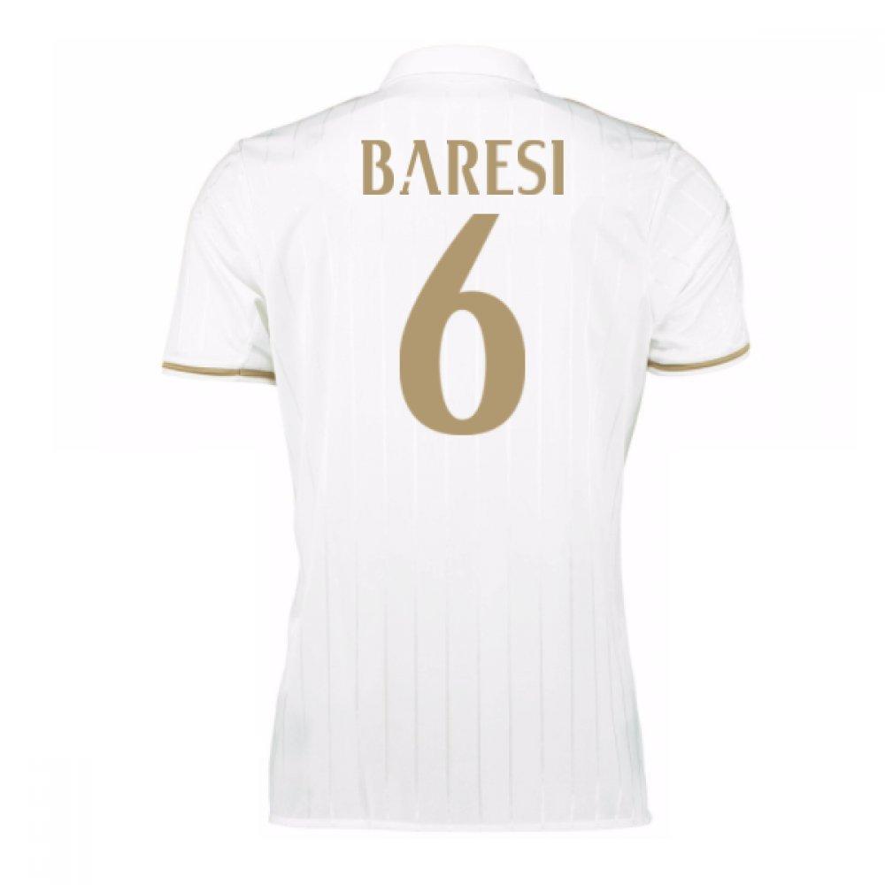 2016-17 AC Milan Away Shirt (Baresi 6) Kids B077Z5LJSRWhite Medium Boys 28-30\