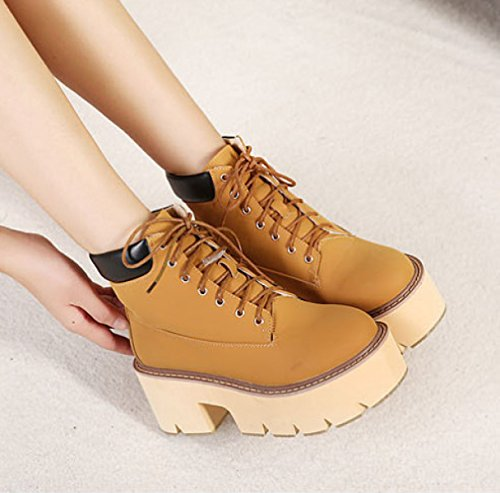 WOMENS LADIES FLAT FUR LINED SOLE WINTER ARMY COMBAT ANKLE BOOTS SHOES SIZE Brown vsMdcSw