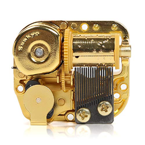 YouTang Sankyo 18 Note Windup Silver Plating Clockwork Mechanism DIY Music Box Movement,Tune:Howl's Moving Castle:Merry-go-Round of Life