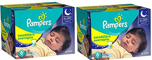 Pampers Swaddlers Overnights Diapers RipOMp, Size 6, 88 Count
