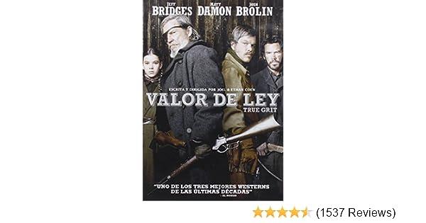 Amazon.com: TRUE GRIT (Valor de ley) Region 2 - PAL - Jeff Bridges: Movies & TV