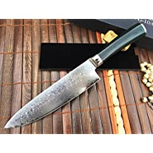 Handmade Damascus Kitchen Knife - Amazing Value Limmited Time Offer
