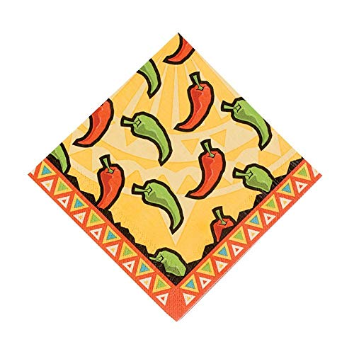 Southwest Chilies Luncheon Napkins by Fun Express