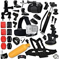 Xtech® Ultimate ACCESSORIES Kit for GOPRO HERO4 SESSION, HERO4 Hero 4 3+ 3 2 1 Hero 4 Black Hero 4 Silver Hero 3 White Hero 3 Silver Hero 3 Black Hero 960 Surf Hero ACCESSORIES KIT Includes: Extendable Monopod Pole + Chest Strap Mount + Head Strap Mount + Bike Handlebar Mount + Suction Cup Car Mount + Floating Sealed Bobber + Helmet Mount + 2 J-Hooks + Camera Wrist Mount + 2 Curved Adhesive Stickers + Curved Surface Mounts + MORE