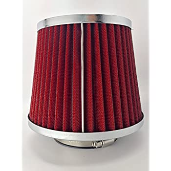 """RED 2.75 Inches 2.75/"""" 70mm Inlet Cold Air Intake Cone Dry Filter For GMC"""