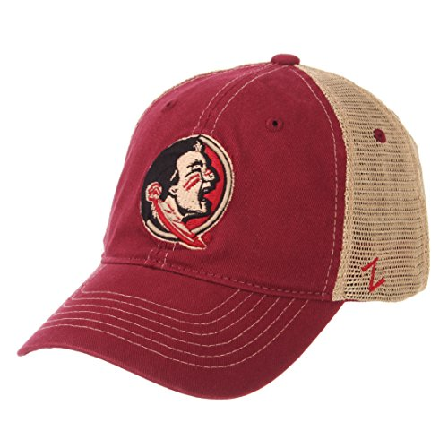 ZHATS NCAA Florida State Seminoles Men's Institution Relaxed Cap, Adjustable, Cardinal