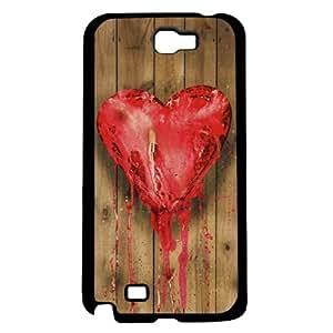 Heart on Wood Hard Snap on Case (Galaxy Note 2 II)