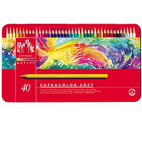 CREATIVE ART MATERIALS Caran D'ache Supracolor Metal Box Set...