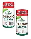 Sweet Leaf Sweetener Sweeteners Organic Stevia Sweetener Powder 3.2 oz. (a) - 2pc