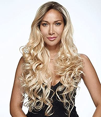 UniWigs Machine Made Cap Body Wave Wig Heat Resistent Synthetic Fiber Ombre Black to Blonde Wig