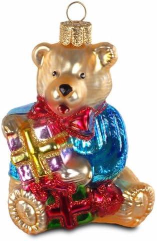 Sikora BS181 B/är mit Geschenken Christbaumschmuck Glas Figur Weihnachtsbaum Anh/änger