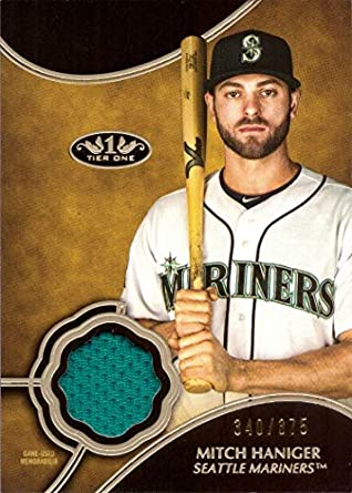 big sale 92b39 5ff73 Amazon.com: 2019 Topps Tier One Relics #T1R-MH Mitch Haniger ...