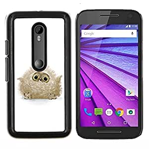 """Be-Star Único Patrón Plástico Duro Fundas Cover Cubre Hard Case Cover Para Motorola Moto G (3rd gen) / G3 ( Búho lindo del bebé"""" )"""