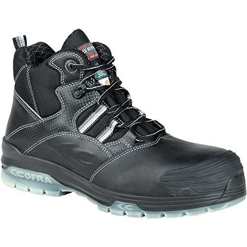 Cofra 20810-CU0.W11 Degas EH PR Safety Boots, 11, Black/Silver