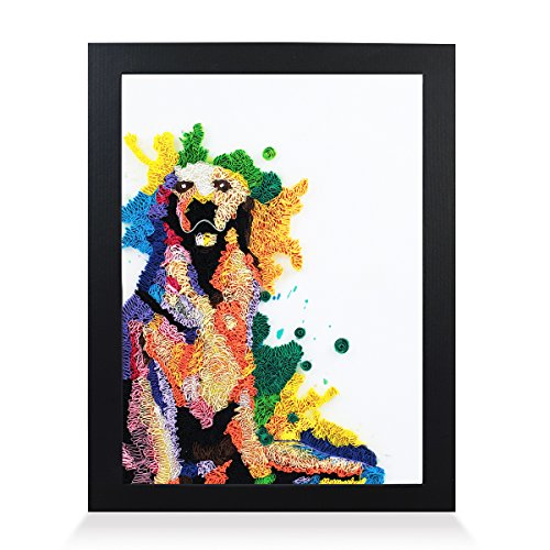 - Golden Retriever Handmade Paper Quilling Artwork A4 Size, Framed 3D Wall Art and Stand Art as Unique Gift for Home Decor