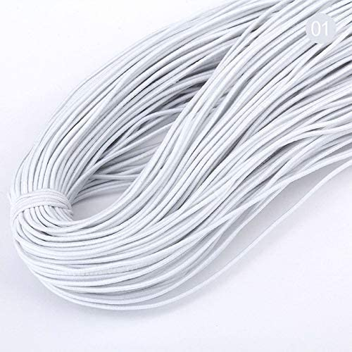 2.5mm or 3mm WIDE 1.5mm QUALITY ROUND ELASTIC BLACK OR WHITE 1mm