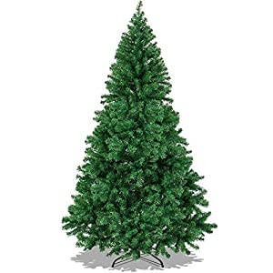 The Finest 6' Feet Super Premium Artificial Christmas Pine Tree with Solid Metal Legs ,1000 Tips, Six Foot Tall 2