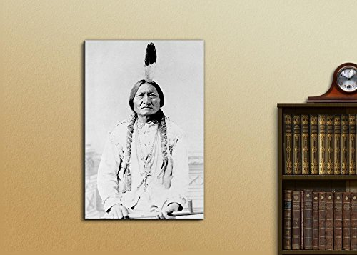 Portrait of American Indian Chief Sitting Bull Inspirational Famous People Series